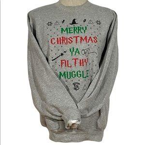 Harry Potter x Home Alone HANES Crewneck Christmas Sweater